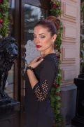 Черное мини платье со стразами в интернет-магазине www.dressex.ru