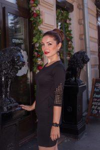 Черное нарядное платье со стразами в интернет-магазине www.dressex.ru