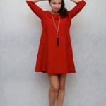 Платье красное а-силуэт в интернет-магазине www.dressex.ru