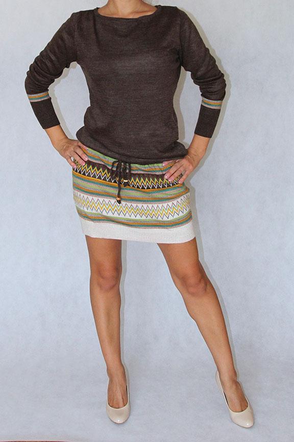 Трикотажное платье TOTTI. Артикул 3019. Цена 1800 руб. в магазине DRESS'EX