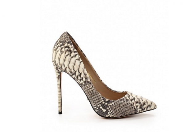 Angelina Voloshina туфли из кожи змеи на каблуке 10 см в интернет-магазине www.dressex.ru