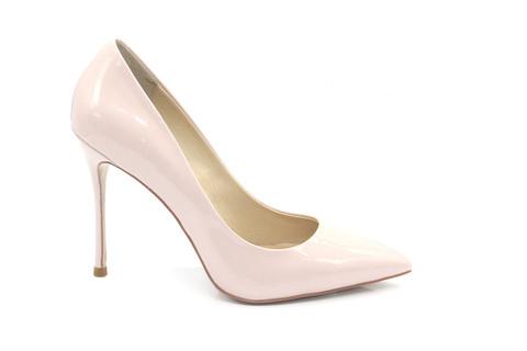 Туфли-лодочки Angelina Voloshina из лакированной кожи бежевые в интернет-магазине DRESS'EX