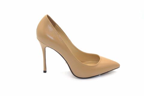Туфли-лодочки Angelina Voloshina кожаные бежевые в интернет-магазине DRESS'EX