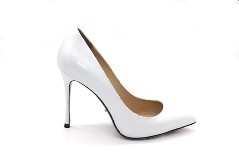 Туфли-лодочки Angelina Voloshina кожаные белые в интернет-магазине DRESS'EX