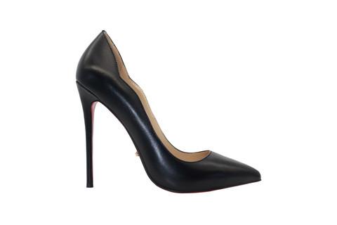 Туфли-лодочки Angelina Voloshina scalloped черные в интернет-магазине DRESS'EX