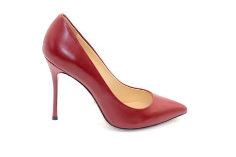 Туфли-лодочки Angelina Voloshina кожаные бордовые в интернет-магазине DRESS'EX