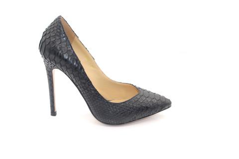 Туфли-лодочки Angelina Voloshina черные из кожи питона в интернет-магазине DRESS'EX