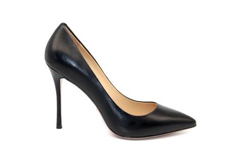 Туфли-лодочки Angelina Voloshina кожаные черные в интернет-магазине DRESS'EX