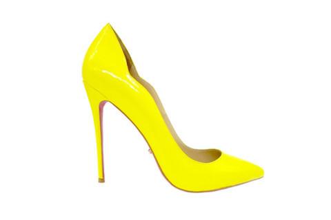 Туфли-лодочки Angelina Voloshina желтые лакированная кожа в интернет-магазине DRESS'EX