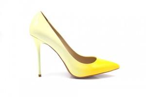 Angelina Voloshina туфли желтые 10 см каблук. Лакированная кожа. Мыс – острый. Артикул 3321.