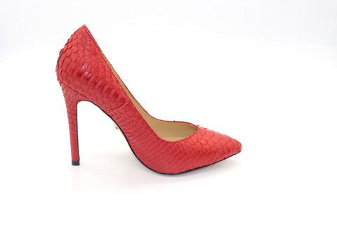 Туфли-лодочки Angelina Voloshina красные из кожи питона в интернет-магазине DRESS'EX