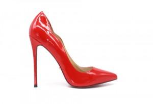 Туфли-лодочки Angelina Voloshina артикул 1205 красные лакированная кожа в интернет-магазине DRESS'EX