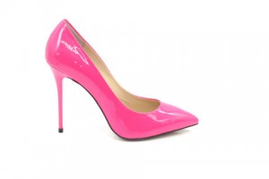 Angelina Voloshina туфли розовые из лакированной кожи 10 см каблук. Мыс – острый. Артикул 3321.