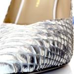 Туфли-лодочки Angelina Voloshina серые из кожи питона в интернет-магазине DRESS'EX