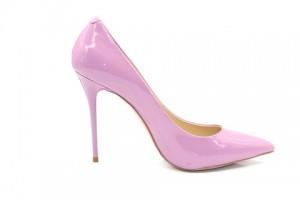 Angelina Voloshina туфли сиреневые из лакированной кожи 10 см каблук.