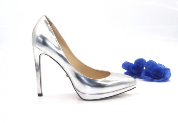 Туфли серебристые  на платформе в интернет-магазине www.dressex.ru