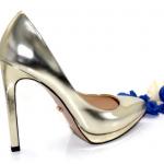 Туфли золотистые на платформе в интернет-магазине www.dressex.ru