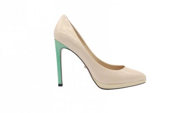 Туфли белые из лакированной кожи на платформе в интернет-магазине www.dressex.ru