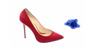 Туфли красные из натуральной замши 10 см каблук.