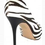 Туфли из натурального волоса пони с принтом зебры в интернет-магазине www.dressex.ru