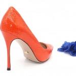 Туфли оранжевые из кожи змеи в интернет-магазине www.dressex.ru