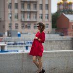 Платье красное А-силуэта в интернет-магазине www.dressex.ru
