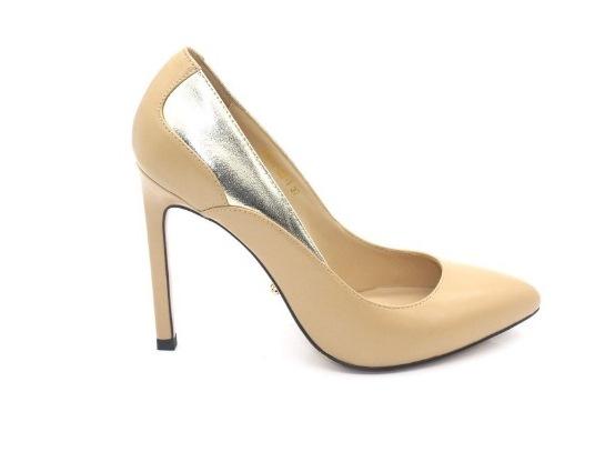 Туфли лодочки из натуральной гладкой кожи в интернет-магазине www.dressex.ru