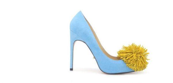 Туфли голубые из натуральной замши в интернет-магазине www.dressex.ru