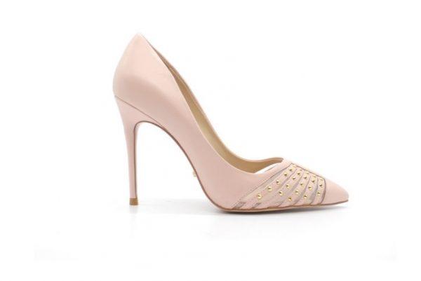 Туфли розовые из натуральной гладкой кожи в интернет-магазине www.dressex.ru