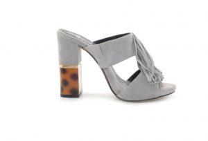 Сабо серые замшевые каблук 10 см в интернет-магазине www.dressex.ru