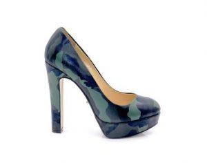 Angelina Voloshina туфли из натуральной кожи зеленые милитари на платформе в интернет-магазине www.dressex.ru