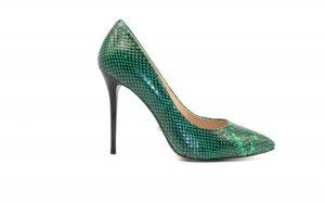Angelina Voloshina туфли из натуральной кожи зеленые 10 см каблук в интернет-магазине www.dressex.ru