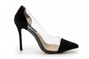 Туфли бархатные черные с силиконом и кожаной стелькой в интернет-магазине www.dressex.ru