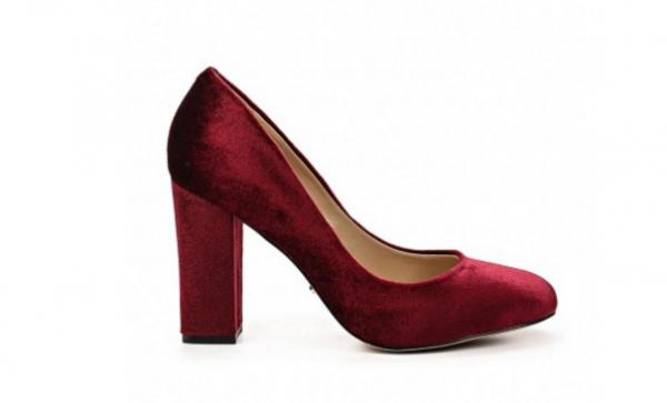 Angelina Voloshina туфли бархатные на толстом каблуке в интернет-магазине www.dressex.ru