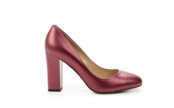 Angelina Voloshina туфли красные из натурабной кожи на толстом каблуке в интернет-магазине www.dressex.ru