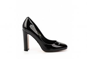 Angelina Voloshina туфли из натуральной лакированной кожи на толстом каблуке 10 см в интернет-магазине www.dressex.ru