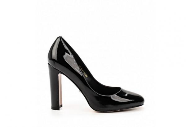 Angelina Voloshina туфли из натуральной лакированной кожи на толстом каблуке в интернет-магазине www.dressex.ru