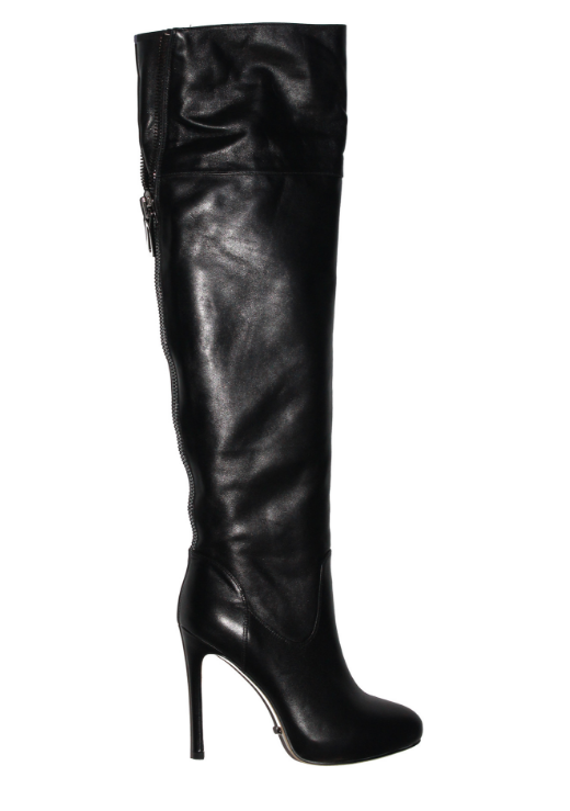 Angelina Voloshina сапоги ботфорты из гладкой кожи каблук 10 см в интернет-магазине www.dressex.ru