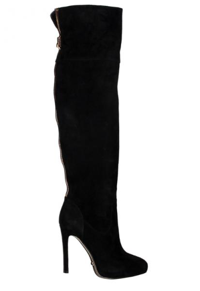 Angelina Voloshina сапоги ботфорты замшевые каблук 10 см в интернет-магазине www.dressex.ru