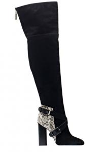 Angelina Voloshina сапоги ботфорты из замши каблук 10 см в интернет-магазине www.dressex.ru