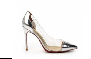 Туфли серебристые с силиконовой вставкой в интернет-магазине www.dressex.ru