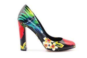 Angelina Voloshina туфли из натуральной кожи на толстом каблуке 10 см в интернет-магазине www.dressex.ru
