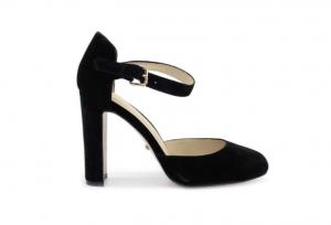 Angelina Voloshina туфли из замши на толстом каблуке в интернет-магазине www.dressex.ru