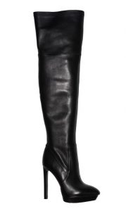 Angelina Voloshina сапоги ботфорты из гладкой кожи каблук 13 см, платформа 3 см в интернет-магазине www.dressex.ru