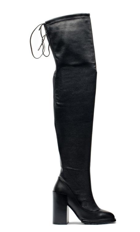 Angelina Voloshina сапоги ботфорты изкожи-стрейч каблук 10 см в интернет-магазине www.dressex.ru